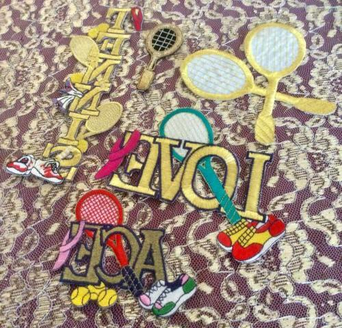 Vintage 24 Embroidered Iron-On Sports Golf, Bowling, Bingo