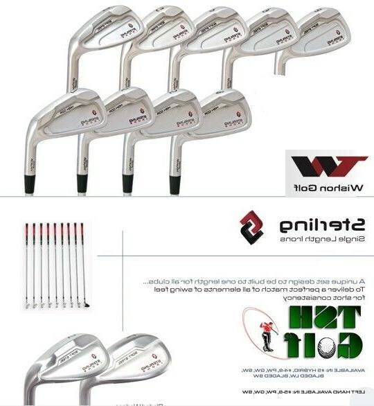 wishon golf tech sterling irons single length