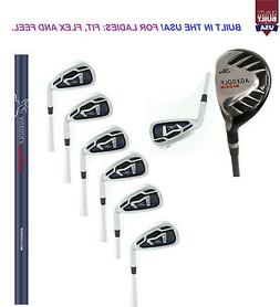 AGXGOLF LADIES MAGNUM GRAPHITE IRON SET #3 HYBRID + 5,6,7,8