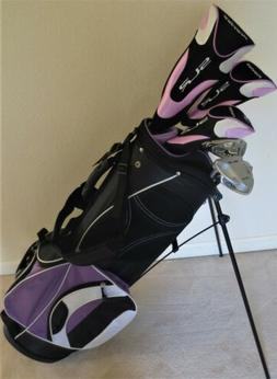 Ladies Right Hand Complete Golf Set Driver Wood Hybrid Irons