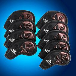 Leather Iron Covers Golf Iron Head Covers for Golf Clubs Pxg