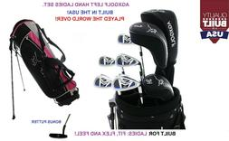 LEFT HAND AGXGOLF LADIES COMPLETE GOLF CLUB SET wDr+3wd+3hy+