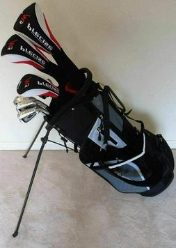 Lefty Tall Mens Golf Set Clubs Driver Wood Hybrid Irons Putt