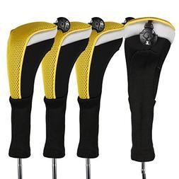 Andux 4pcs/Pack Long Neck Golf Hybrid Club Head Covers Inter