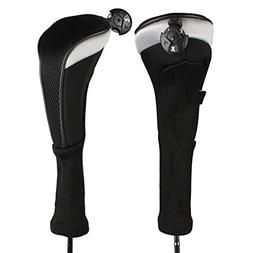 Andux 2pcs/Pack Long Neck Golf Hybrid Club Head Covers with