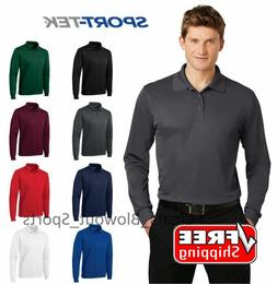 Sport-Tek Long Sleeve Polo Golf Performance Sport Wicking Dr