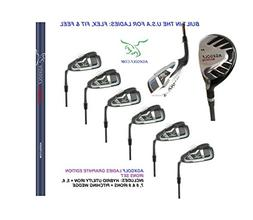 AGXGOLF Ladies, Right-Hand Magnum Graphite Iron Set #3 Hybri