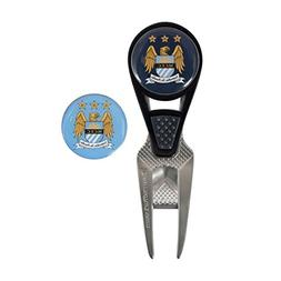 Manchester City Football Club CVX Ball Mark Repair Tool & 2