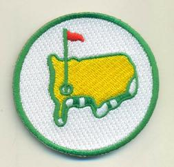 MASTERS GOLF iron on embroidered GOLF  PATCH AUGUSTA TOURNAM