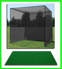 Golf Mat, Golf Net Cage, 10'x10'x10 Golf Net Golf Cage a