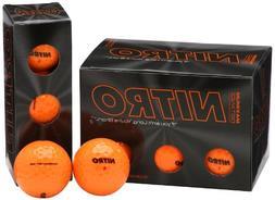 Nitro Maximum Distance Golf Ball,Orange,12-Pack