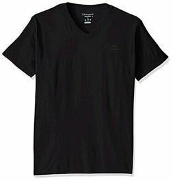 Champion Men's Classic Jersey V-Neck T-Shirt, Black, 4X Larg