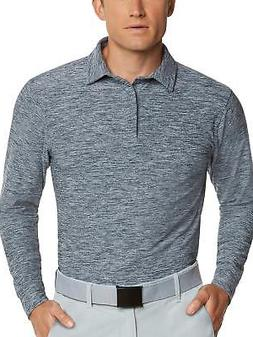 Men's Dry Fit Long Sleeve Polo Golf Shirt Moisture Wicking a