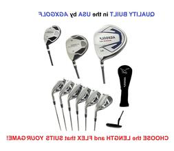 AGXGOLF Men's Magnum XS Full Graphite Golf Set 460 Dr+Hybrid