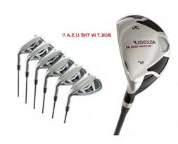 MEN'S RIGHT HAND AGXGOLF MAGNUM IRONS SET w #3 HYBRID IRON +