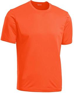 DRIEQUIP Men's Tall Short Sleeve Moisture Wicking Shirt,Neon