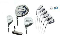 Men's XL Complete Golf Set wDr+Wood, Hybrid+5-9 Irons, Wedge