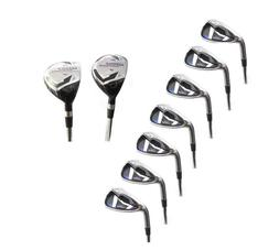 AGXGOLF MENS LEFT HAND MAGNUM IRONS SET 3 + 4 HYBRID+5-SW: A