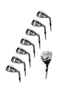 MENS LEFT HAND AGXGOLF MAGNUM IRONS SET w3 HYBRID IRON +5-9