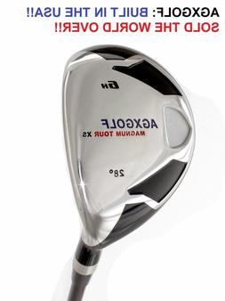 AGXGOLF MENS RIGHT HAND #6 HYBRID IRON 28* wGRAPHITE SHAFT.