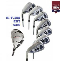 MENS RIGHT HAND AGXGOLF MAGNUM IRONS SET w4 HYBRID IRON +5-P