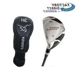 AGXGOLF MENS TALL PLUS 2 INCH RIGHT HAND #3 HYBRID IRON wTRU