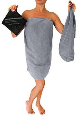 "Microfiber Travel Towel, XL 30x60"" - FREE Fast Dry Hand Towe"