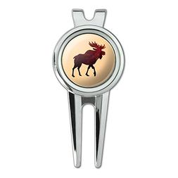Moose Red Forest Golf Divot Repair Tool and Ball Marker