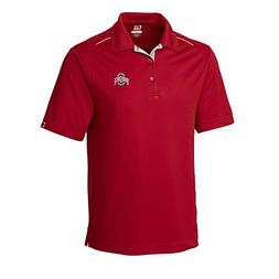 Cutter & Buck NCAA Men's CB Dry Tec Foss Hybrid Polo,Ohio St