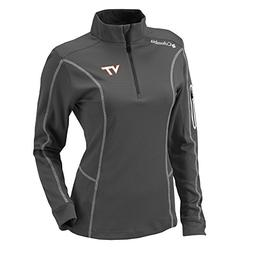 Columbia NCAA Virginia Tech Hokies Women's Shotgun 1/4 Zip T