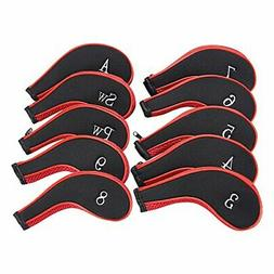 Neoprene Zipper Golf Club Iron Head Covers Iron Covers 10pcs