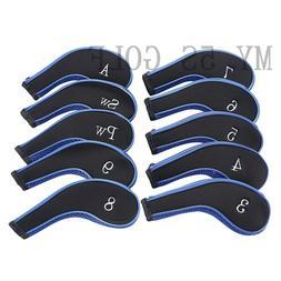 New 10Pcs/set Zipper Golf Iron Headcovers Covers for Mizuno