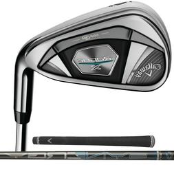 New 2020 Callaway Rogue X Irons - Graphite Shafts - 5-PW+AW