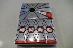 NEW Callaway Chrome Soft X Truvis Golf Balls, 2018 White/Red