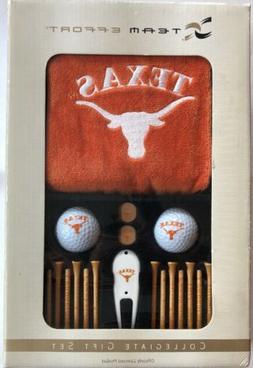 New Team Effort Collegiate Gift Set TEXAS LONGHORNS Golf Gif