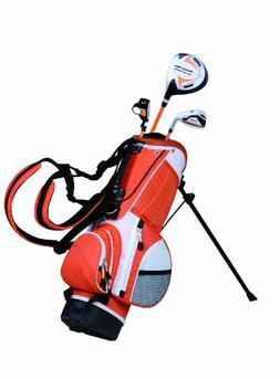PowerBilt Junior Orange 3 Club Complete Golf Set