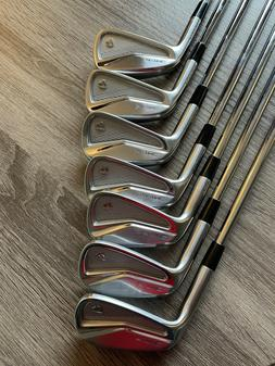 TaylorMade P-7MC 4-PW Iron Set with True Temper AMT White To