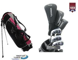 AGXGOLF PETITE LADIES GRAPHITE GOLF SET wPINK BAG +DRIVER+HY