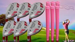 Petite Senior Women's iDrive Golf Clubs All Ladies Pink Hybr