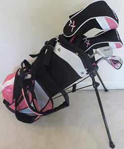 Pink Color Girls Junior Golf Club Set Complete with Stand Ba
