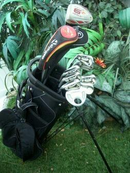 Polished TaylorMade Golf Clubs Set Driver Woods Irons Wedge