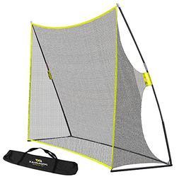 PodiuMax Portable 10x7ft Hitting Net with Carrying Bag - Gol