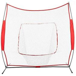 LEADZM 7' x 7' Practice Net Baseball Softball Rebounder with
