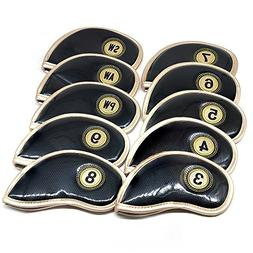 Debonice PU Leather Iron Head Covers Golf Club Headcover Wat