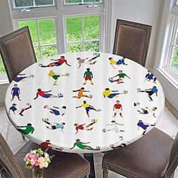 Mikihome The Round Table Cloth ecti of Soccer Players League
