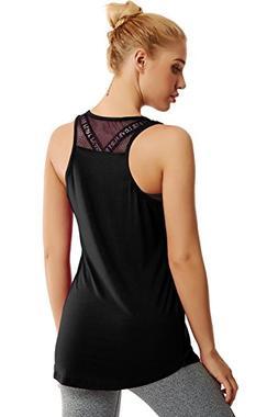 Duppoly Running Tank Tops for Women Sleeveless Yoga Shirt Qu