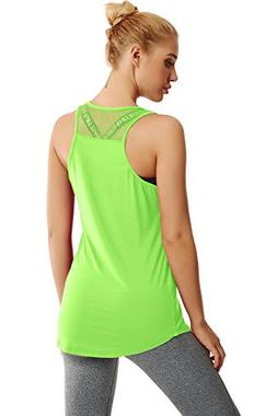 Duppoly Running Tank Tops for Women Sleeveless Yoga Shirt Qu