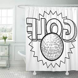 Emvency Shower Curtain Set Waterproof Adjustable Polyester F