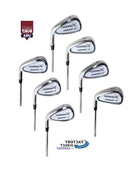 Men's Senior Flex, Regular Length Tour Irons Set 4-9 Irons +