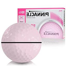Pinnacle Soft Pink AlignXL Personalized Golf Balls for Women